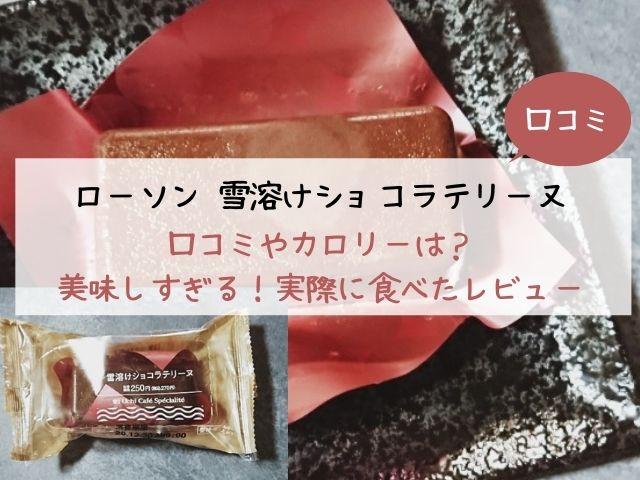 ローソン・雪溶けショコラテリーヌ・口コミ・カロリー