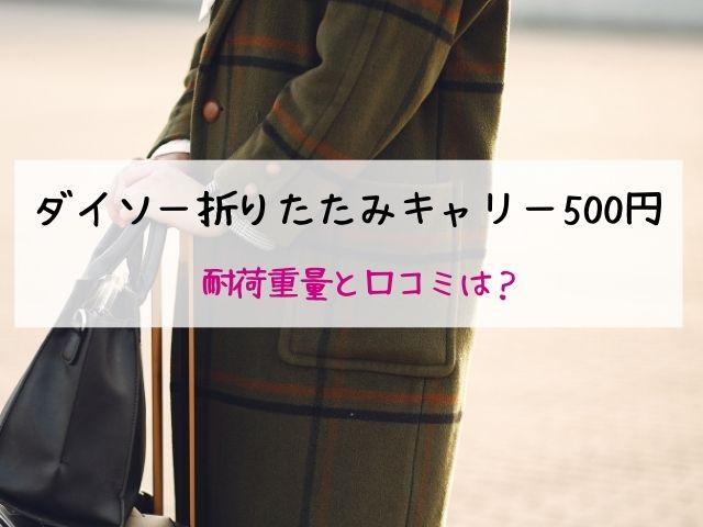 ダイソー・折りたたみキャリー・500円