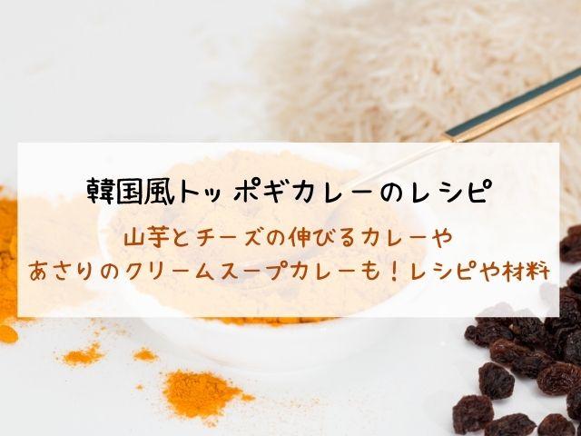 韓国風トッポギカレー・レシピ・材料・北斗晶