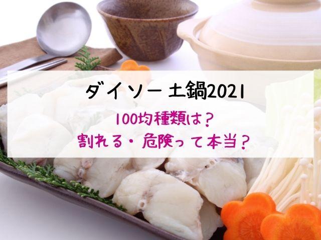 ダイソー・土鍋・2021