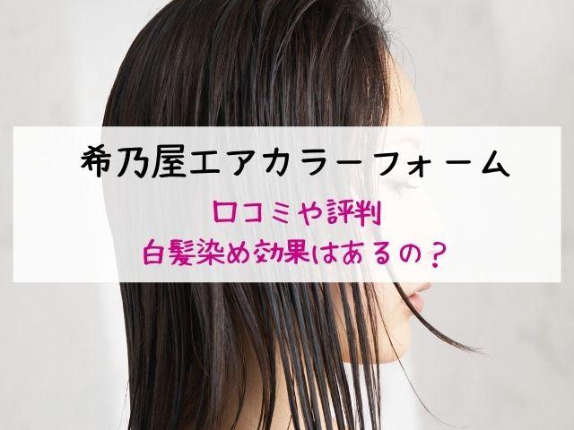 希乃屋エアカラーフォーム・口コミ・評判・効果
